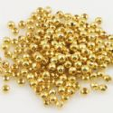 Beads, High quality metal alloy, Gold colour, Disc shape, Diameter 3mm, 9g, 200 Beads, (JSZ0002)